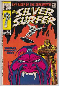 Silver-Surfer-6-VG-4-5-Stan-Lee-John-Buscema-Art