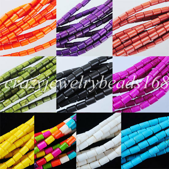 Mix Color Jewelry Howlite Turquoise Loose Spacer Beads 15.5 Inches Strand BG107