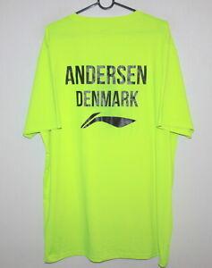 Li-ning Badminton Tennis match worn womens shirt Denmark team Andersen Size 5XL
