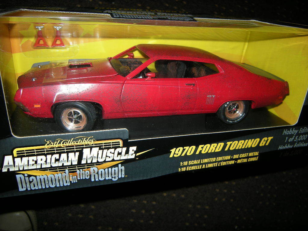 1 18 ertl american muscle FORD TORINO GT 1970  Diamond in the Rough  RARE
