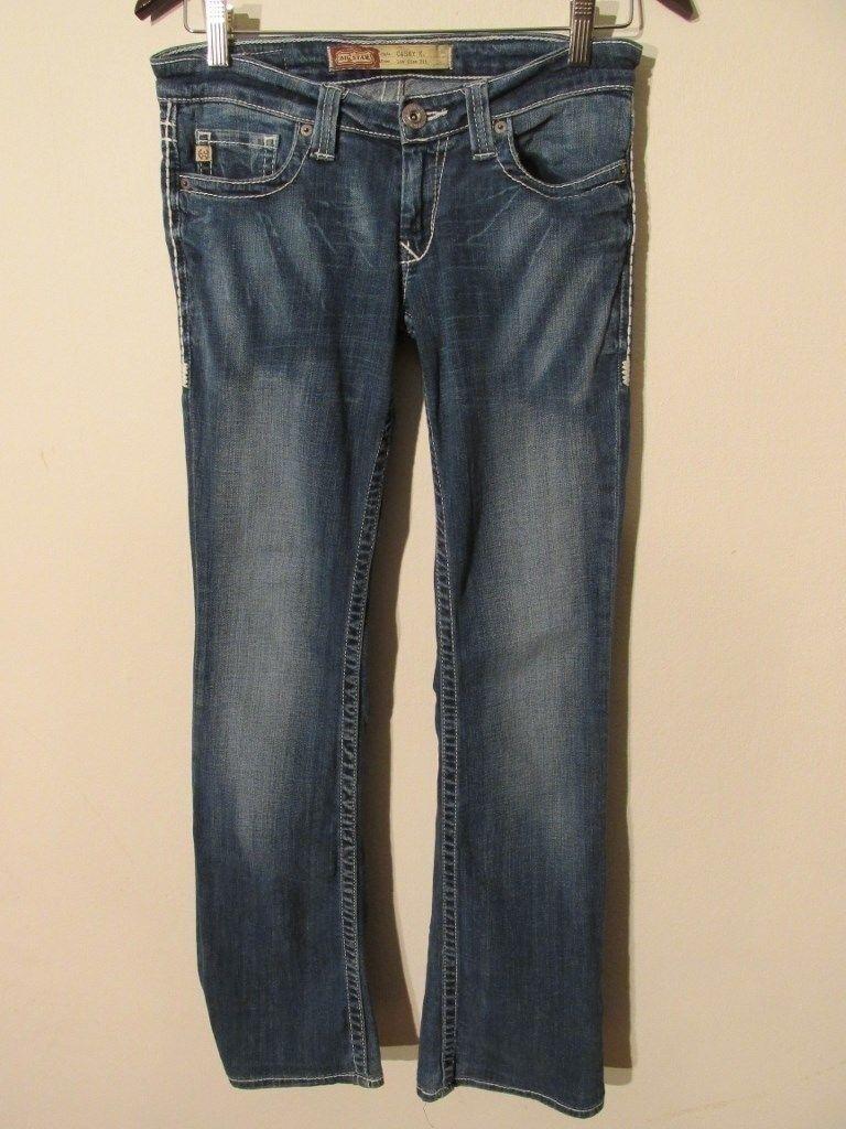 F2839 Big Star Casey K Low Rise Stretch High Grade Jeans Women's 29x30