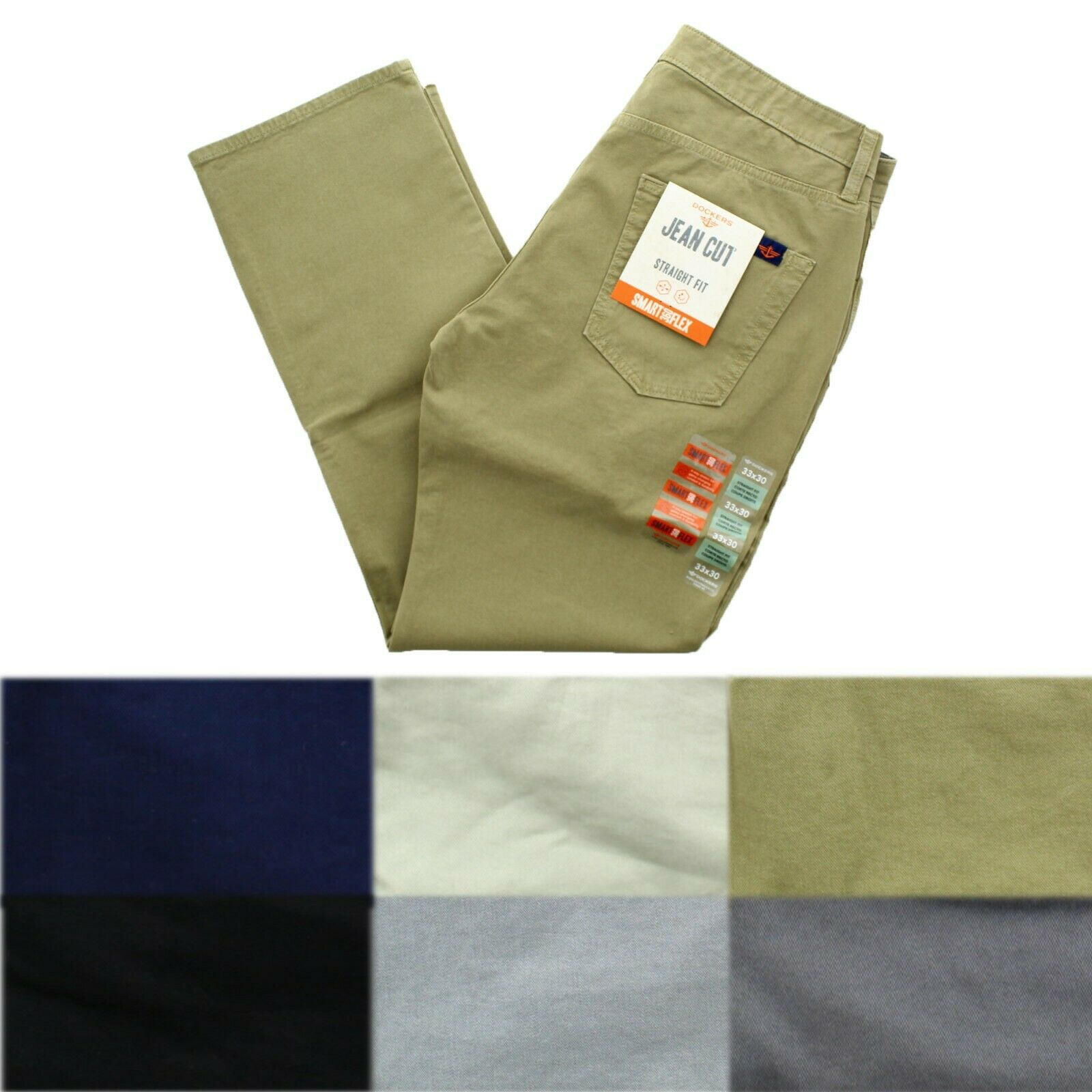 fine quality extremely unique how to serch Dockers Men's Jean Cut Straight Fit 4 Way Stretch Comfort Smart Flex 360  Pants