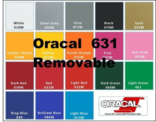 """12/"""" x 150 FEET  Oracal 631 vinyl Sign Craft Plotter Removable Wall Graphic 90.00"""