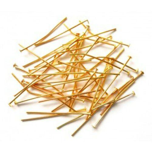 30mm Headpins eyepins 0.5mm thickness Brass made UK Seller