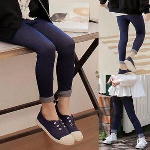 1b1dd0cef Kids Baby Girl Slim Fit Jeans Leggings Children Toddler Elasticity ...