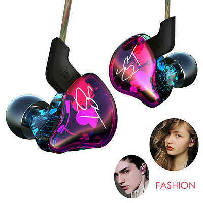 In-ear HIFI Earbuds Dual Driver Earphones Bass Headset With Mic Noise Cancelling