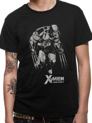 X-Men Wolverine Griffes Tonal Officiel Marvel Avengers T-Shirt Homme Noir