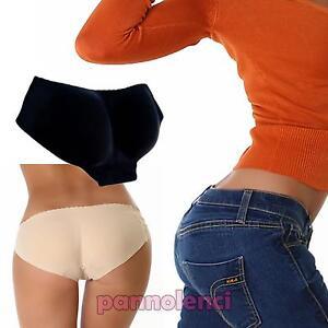 Slip-donna-modellante-push-up-mutande-imbottite-glutei-perfetti-nuovo-T1071