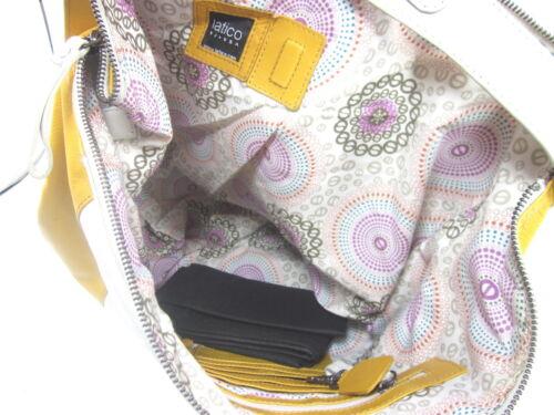METALLIC WHITE// GOLD SAMANTHA 8565 SHOULDER BAG NEW ONE SIZE LEATHER LATICO