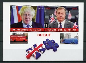 Chad-2018-MNH-Brexit-Nigel-Farage-Boris-Johnson-2v-M-S-Politicians-Buses-Stamps