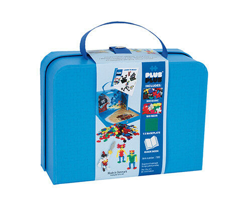 Plus-Plus Mini 400 Karton-Koffer Set Konstruktionsbausteine Basic