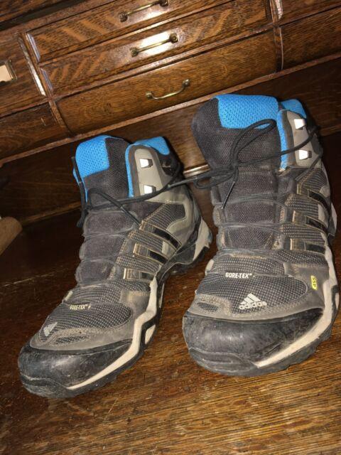 ADIDAS TERREX 455 Gore Tex G97925 Boots Hiking Black Blue Women's Sz 9.5 Us