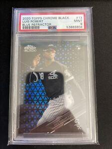 2020 Topps Chrome Black Luis Robert Blue Refractor 73/75 PSA 9 Baseball Sox # 13