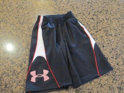 Under Armour Ysm Boys Girls Youth Shorts Black Athletic Elastic Tie Draw Loose Pure And Mild Flavor