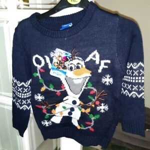 Disney-Boys-Jumper-Olaf-Frozen-Age-4-5-Brand-New-with-Tags