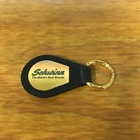 Schwinn Bicycle Key Chain Gold Black Leather The World