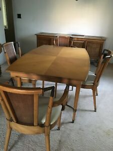 Details about MCM Dining Room Table And 6 Chairs Mid Century Modern