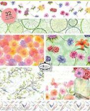 A5 Paper Stack - Botanical Summer, Birds & Roses - 32 Sheets - 0107 - SALE