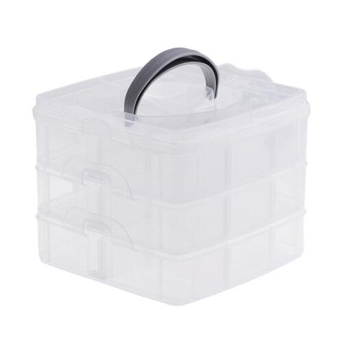 Plastic Jewelry Tools Beads Pills Holder Storage Box Home Office Organizer
