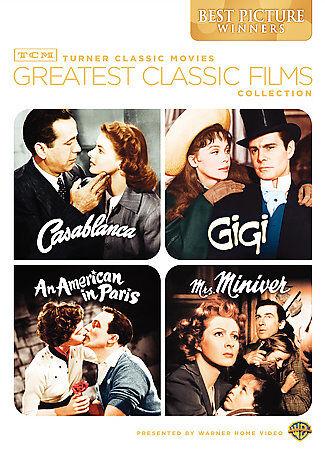 Greatest Classic Films DVD, 2009, 2-Disc Set Casablanca, Gigi, Mrs, Miniver 1 - $17.71