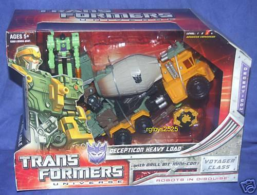 Transformers Universe HEAVY LOAD New Voyager Class Factory Sealed 2008