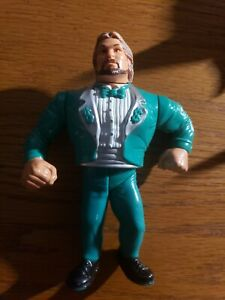 Million Dollar Man Ted Dibiase WWF Flashback figure WWE construire Howard Finkel