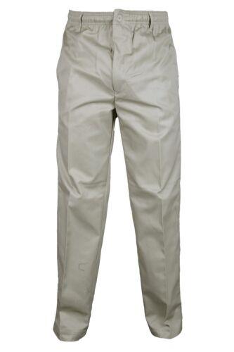 Da Uomo completamente elastico in vita Rugby Pantaloni 50-60 Confortevole Casual Pantaloni