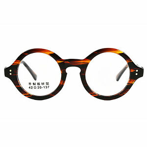 e7ecb505140 Image is loading Agstum-40mm-61mm-HANDMADE-Vintage-Round-Glasses-Optical-