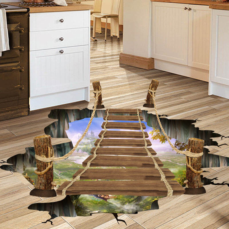 D Removable Vinyl Home Room Decor Art Wall Decal Floor Stickers - 3d vinyl flooring for sale