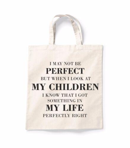 Me puede no ser perfecta de Lona Bolso De Compras Bolso Shopper Bolsa regalo impresos de algodón