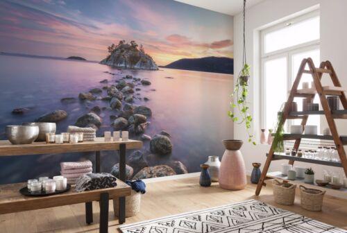 Huge Wall Mural Photo Wallpaper 368x254cm Sea stony shore island for bedroom