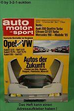 AMS Auto Motor Sport 23/84 * Audi 200 Peugeot 205 Turbo 16 Citroen CX GTi