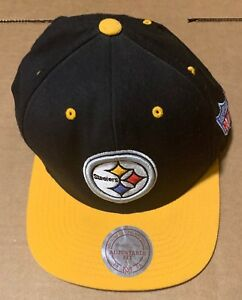 c9024a2c801 Image is loading Pittsburgh-Steelers-Cap-Mitchell-amp-Ness-Snapback-Wool-