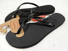 HAVAIANAS WOMENS SANDALS YOU METALLIC BLACK SIZE 7/8