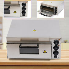 2000w Electric 12 14 Pizza Oven Single Deck Fire Stone Stainless Bread Toaster