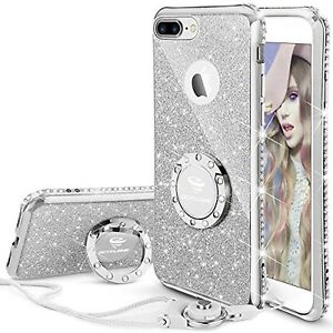 Details about iPhone 7 Plus Case, iPhone 8 Plus Case, Glitter Cute Phone  Case Girls with Ki