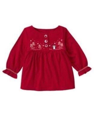 NWT Gymboree Girls Winter Penguin Fleece Button Bow Dress Size 3-6-12-18-24 M 2T