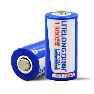 3V 1300mAh CR123A rechargeable lithium battery LiFePO4 3V lithium battery UK