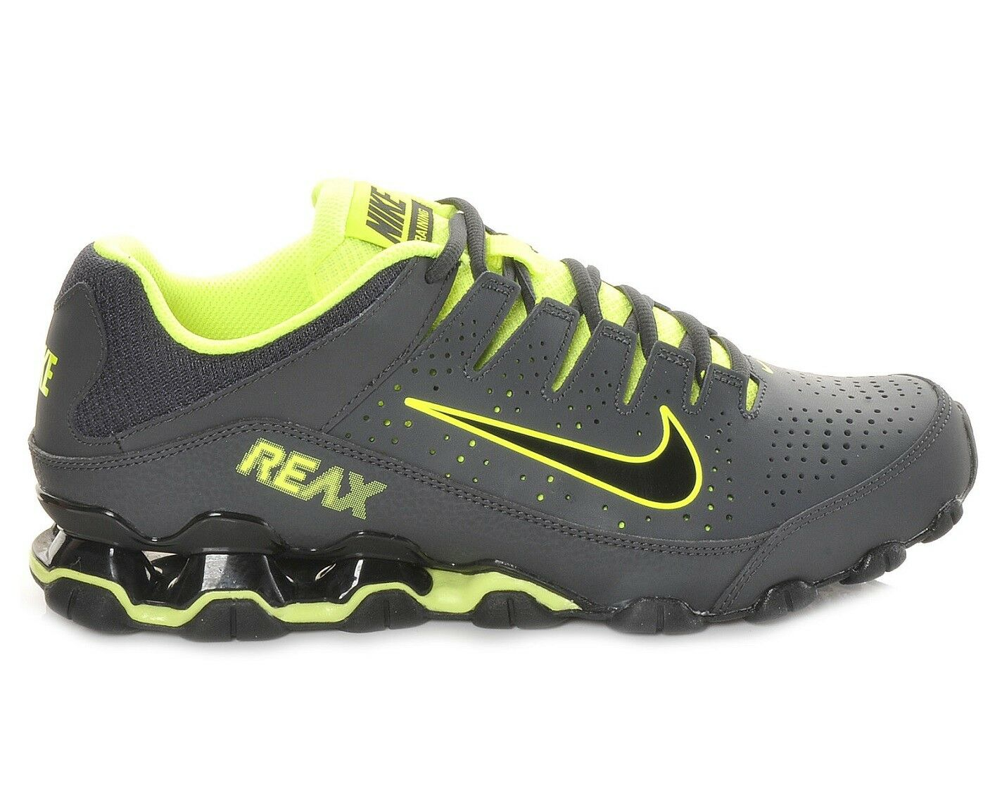 Nike Reax 8 TR Mens 616272-036 Anthracite Black Volt Training Shoes Comfortable