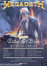 "MEGADETH / CHILDREN OF BODOM ""AUSTRALIAN TOUR 2015"" CONCERT POSTER - Heavy Metal"