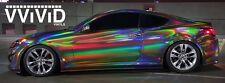 "Vvivid 17.75"" x 5ft Black Rainbow Hologram Chrome Vinyl Car Wrap Decal"