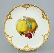 (K123) KPM Prunk Teller, Obst-, Früchte Motiv ,Neuzierat Gold Reliefrand, 1.Wahl