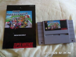 Super Mario Kart (Super Nintendo System) SNES Game w/ Instruction Manual Booklet