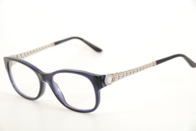 Authentic Bvlgari 4081h 5296 53mm Blue/silver Frames Eyeglasses ...