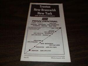 MARCH-1972-PENN-CENTRAL-FORM-72-NEW-YORK-NEW-BRUNSWICK-TRENTON-PUBLIC-TIMETABLE