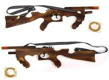 SOLID WOOD ELASTIC SHOOTING 21 in MACHINE GUN rubber band shooter toy RIFLE