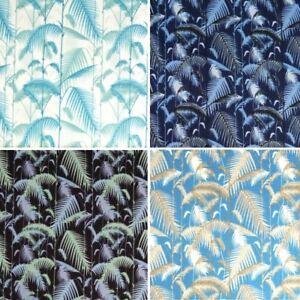 100/% Cotton Poplin Fabric by Fabric Freedom Tropical Fern Stems Stalks Leaves