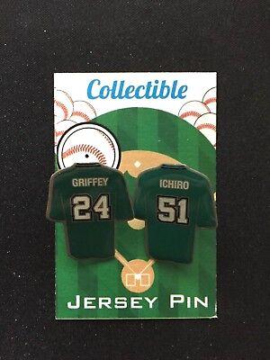 Seattle Seeleute Ichiro Suzuki Ken Griffey Jr.trikot Revers Pin-m's Sammelbar Um Eine Reibungslose üBertragung Zu GewäHrleisten Sport Weitere Ballsportarten