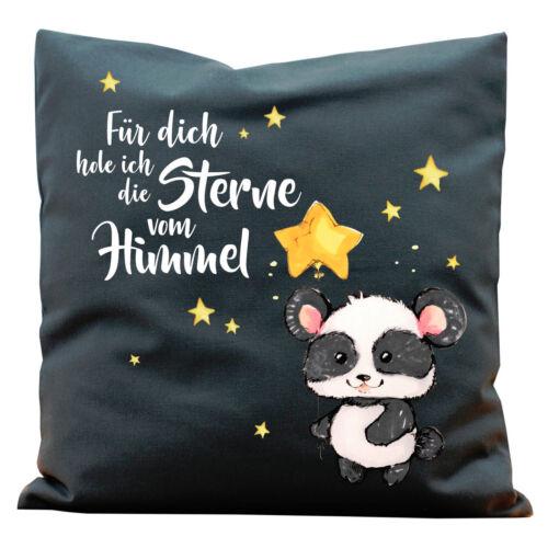 Kissen Für dich hole ich die Sterne vom Himmel mit Panda K304 Spruch Kissen Kind