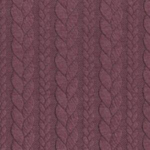 f4b22eb4b3b Cable Knit Jersey - Dusty Aubergine 401 - Stretch Fabric Dressmaking ...
